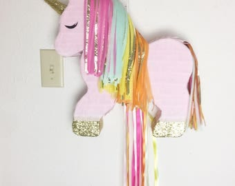 Pull-String Unicorn Piñata, Customizable Unicorn Piñata