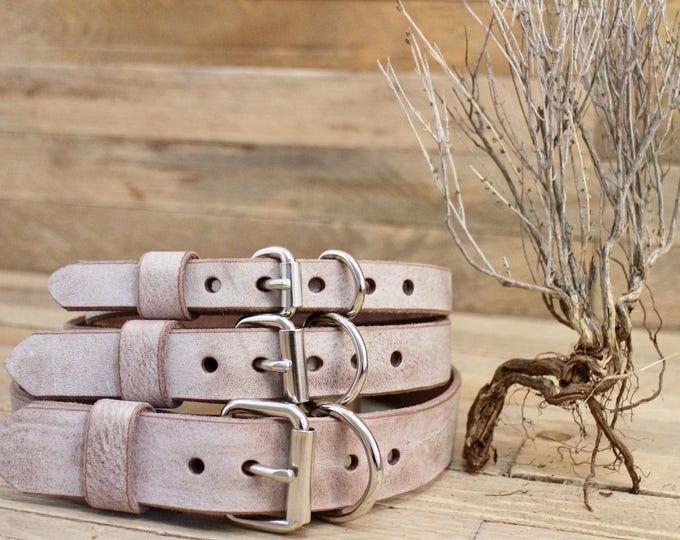 Dog collar, FREE ID TAG, Foggy, Adjustable leather collar, Sturdy collar, Handmade collar, Leather collar, Dog gift, Collar.