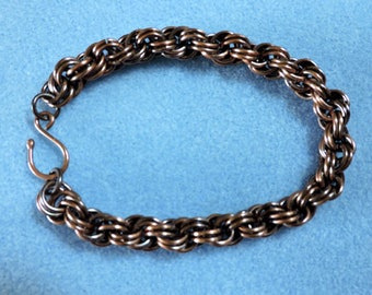 Men's French Rope Copper Chainmaille Bracelet