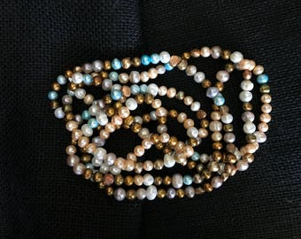 """NEW 72"""" Fresh Water Pearl Necklace  8 to 9 mm Pearls"""