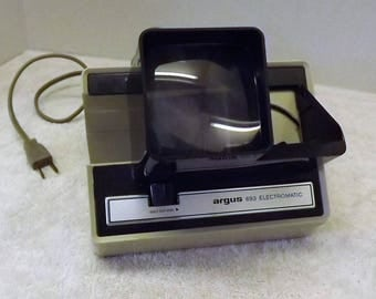 Vintage Argus 693 Electromatic 35mm 2 x 2 Slide Viewer - Free Shipping