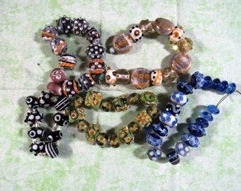 1 Handmade Lampwork Glass Bead Set (B424g)