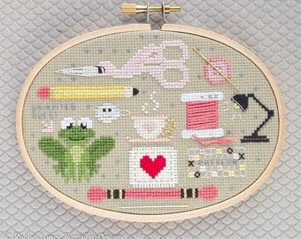 Cross Stitch Friends Cross Stitch Pattern PDF | Stitcher Stitching Tools | Easy | Modern | Beginners Counted Cross Stitch | Instant Download