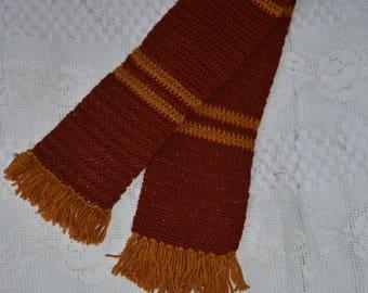 Oversized rust/ mustard scarf