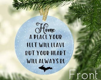 personalized christmas ornaments-ceramic-christmas ornament-state