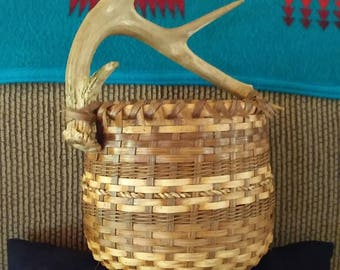 Whitetail Antler Basket