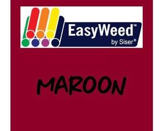 Siser EasyWeed Heat Transfer Vinyl - HTV - Maroon