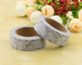 Grey Marble Washi Tape - Marble washi Tape - Washi Tape - Paper Tape - Planner Washi Tape - Washi - Marbled washi tape - deco tape