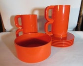 Heller Max2,  Coffee Cups, Saucers and Bowl