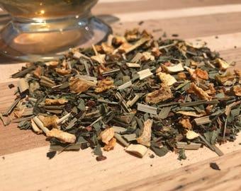 Garden Lemon Loose Leaf Tea, Basil and Honeybush