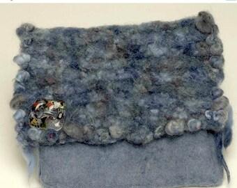 ON SALE Hand Knit Felted Wool Handbag FIB 1