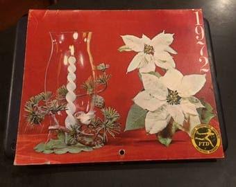 1972 FTD flowers calendar