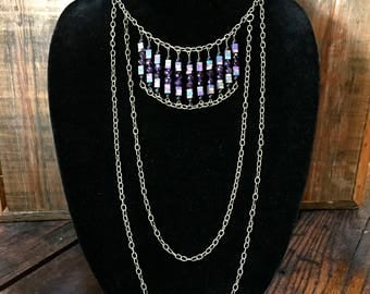Amethyst/Hematite Chain Necklace