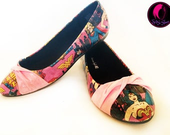 Wonder Woman Comic Superhero Shoes