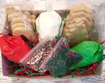 Sugar Cookie Kit/ Decorate your own sugar cookies