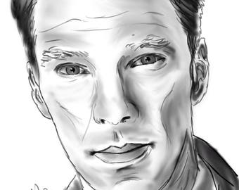 Benedict Digital Sketch [PRINT]