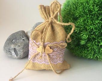 Sample 25,50,100  Wedding Burlap Favour Bags Burlap Rustic Favour Bags Wedding, Favour Bags Alternative Favour Bags