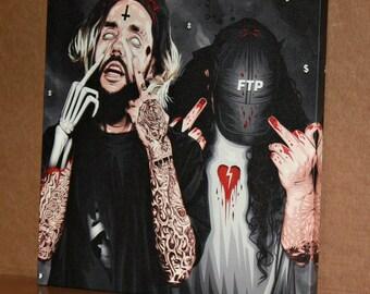 Suicideboys original canvas /art work, pop-art *watermark will be removed