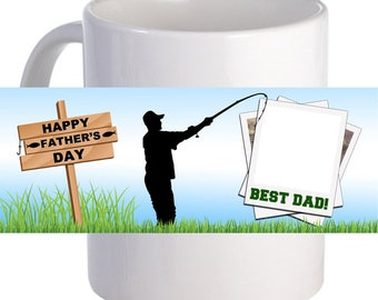 "Personalized ""Fishing Father's Day"" Coffee Mug A Lovely Gift To Father"