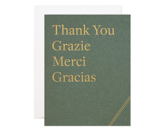 "Earthtones ""Thanks X 4"" Greeting Card"