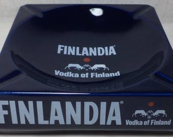 Finlandia Vodka Vintage Blue Ashtray