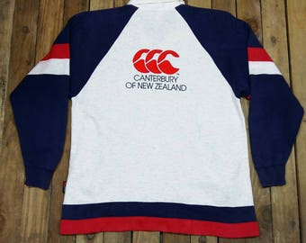 Vintage 90's CANTERBURY Rugby Sweater Large Vintage Canterbury Of New Zealand All Blacks Rugby Multicolor Sweatshirt Jumper Size L