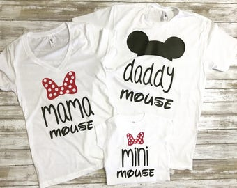 Family Matching Mouse Shirts / Family Vacation Shirts / Mama Mouse Daddy Mouse Mini Mouse / Mouse Ears Shirts