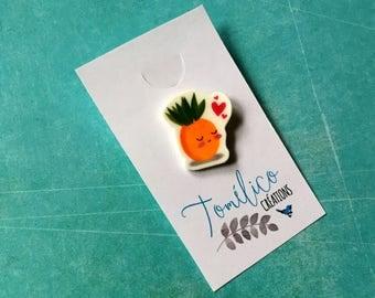 "Brooch ""Miss pineapple"""