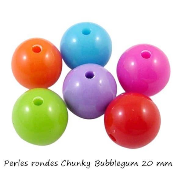 Round beads 20 mm x 1 [ChunkyBubblegum]