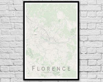 FLORENCE Italy City Street Map Print | Wall Art Poster | Wall decor | A3 A2