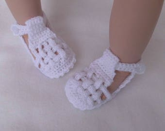 Baby Slippers, crochet shoes, wool, Rebornschuhchen, first shoes