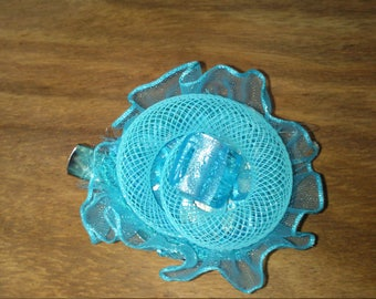 one-off, handmade hair fascinator and brooch