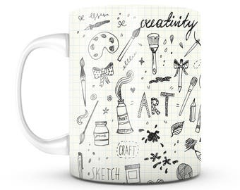 Art Coffee Mug - Unique Gifts For Men or Women, Him or Her - Cool Present Idea For Mom, Dad, Kids, Son, Daughter, Wife