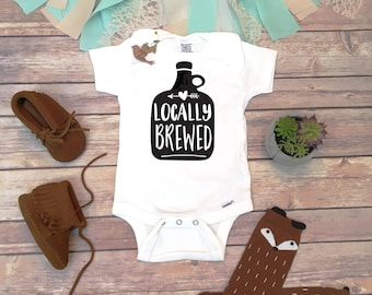 Boho baby clothes trendy baby bodysuits hipster by bittyandboho locally brewed onesie funny onesies beer onesie unique baby gift unisex negle Image collections
