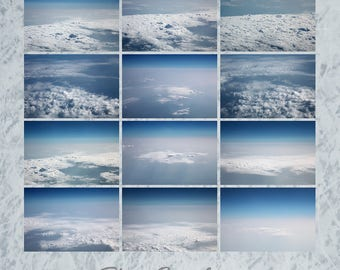 Sky from above, Airplane sky,  Digital Sky, cloud overlays, sky overlays, realistic sky, Feathery clouds, blue sky, photo overlay