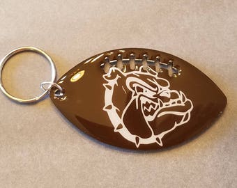 Football, Keychain, Mascot, School Spirit