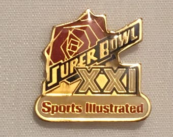 Super Bowl XXI Sports Illustrated Vintage Pin