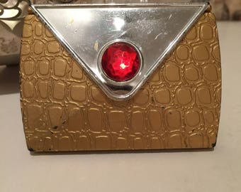 Vintage Gold and Silver Compact Mirror