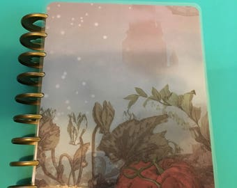 The Happy Planner Cover Dual Sided Back and Front Laminated and Hole Punched to fit w/ Rings Green