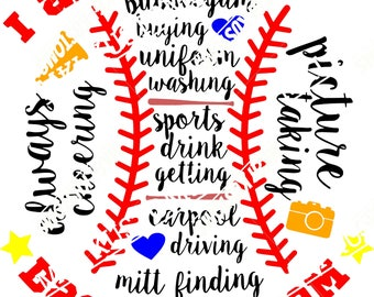 Baseball Mom Svg/ Baseball Svg/ Baseball Life Svg/ Sports Svg/ Sports Mom Svg/ Softball Svg/ Softball Mom Svg/ Softball Life Svg