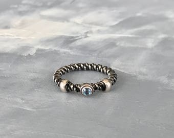 Stackable Ring in Sterling Silver