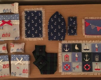 Seaside Themed Cushions, bedding and rug set to fit Syvanian Families Lighthouse ( House NOT included)