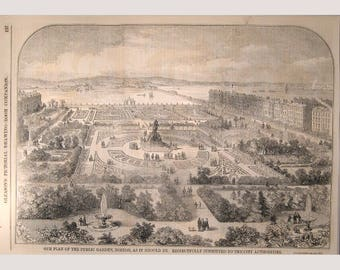 Boston Public Garden  – 1853