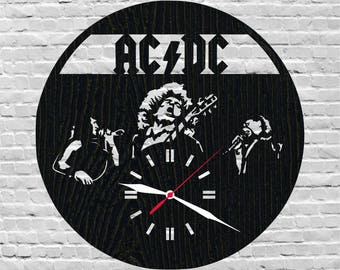 Ac Dc clock/Rock and roll/Gift for music lover/Heavy metal/Hard rock/Rock band/Music gift ideas/Classic rock/Acdc/Ac-dc/Angus young