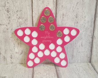Acrylic Weight Loss Star, weight loss tracker, weight loss plaque, diet,