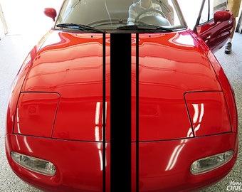 Car Rally Stripes decal Rally Racing Stripes decal Vinyl Rally Stripes Stripe Kit For car truck universal kikcar2