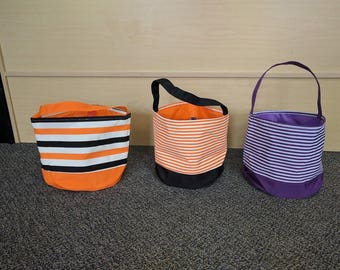 Personalized Halloween bucket, Personalized, Halloween Basket, Trick or treat bag, Embroidered Halloween Bag, Monogrammed Halloween Bucket,