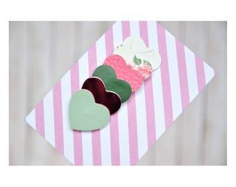 infant hair clips, glitter hair clips, glitter snap clips, pink hair clips, green hair clips, heart hair clips, pink snap clips