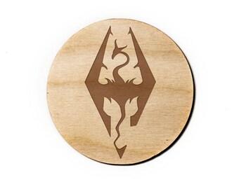 Skyrim Engraved Birch Coasters