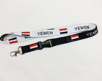 Yemen flag reversible lanyard/keychain